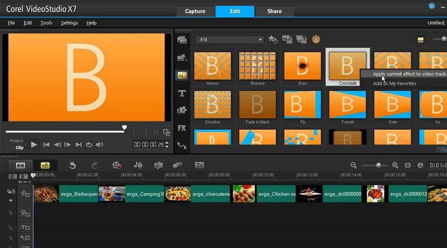 Phần mềm làm video từ ảnh Corel Video Studio