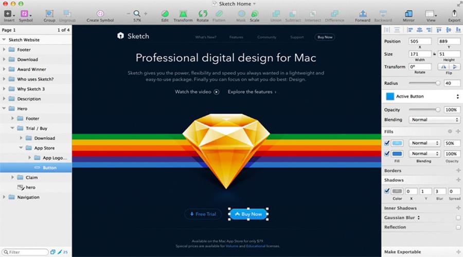 Phần mềm Sketch Full Crack Mac OS