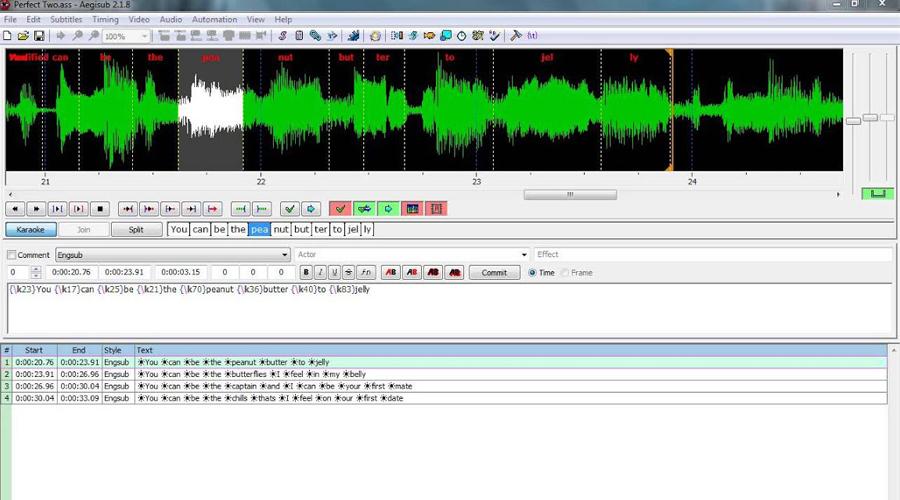 Download Aegisub phần mềm add sub vào Video